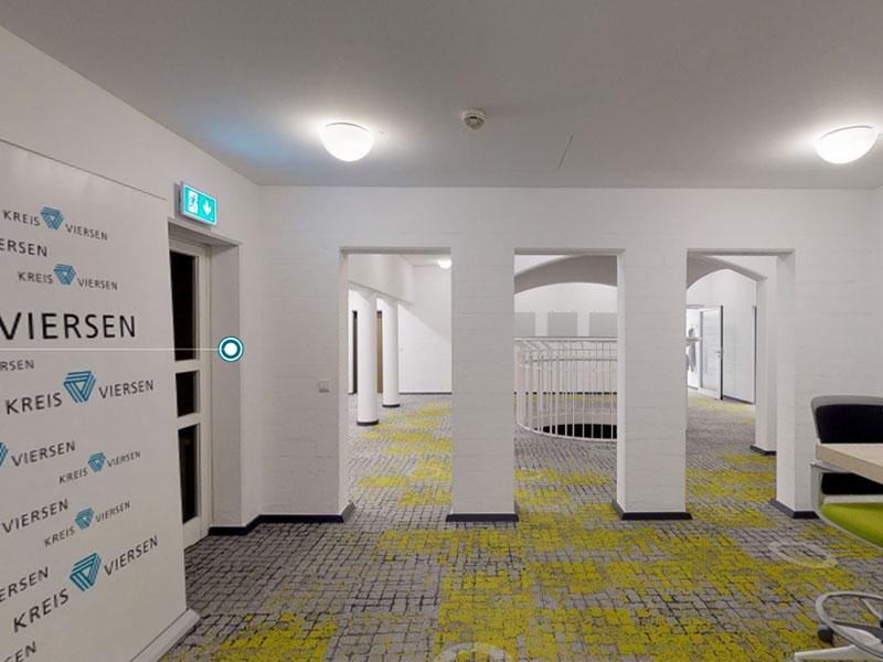 Virtueller Rundgang durch Open-Space-Büro, Kreis Viersen